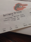 Baltimore Orioles - Chicago White Sox
