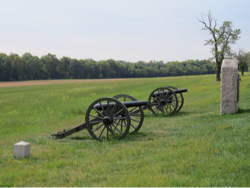 Kanonnen op het slagveld bij Gettysburg