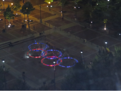 Olympic rings by Night
