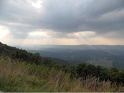 Vergezicht bij zonsondergang in de Shanadoah valley