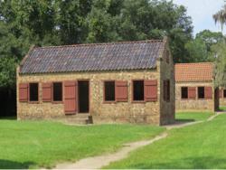 Slavenhuisjes op Boone Hall Plantation